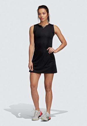 Платье adidas CLUB DRESS. Цвет: черный