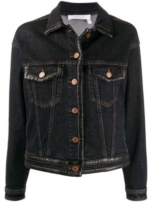 Джинсовая куртка кроя слим See by Chloé. Цвет: синий