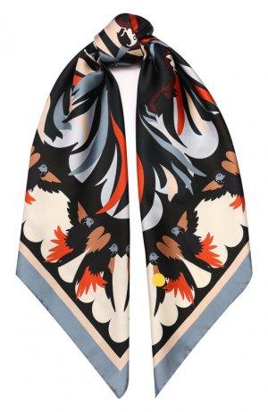 Шелковый платок Fendi. Цвет: темно-синий