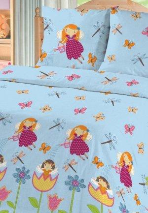 Постельное белье детское Текстильная лавка. Цвет: голубой