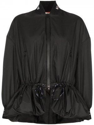 Куртка-бомбер с затяжками Valentino. Цвет: черный
