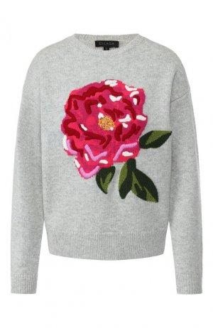 Пуловер из смеси шерсти и кашемира Escada. Цвет: серый