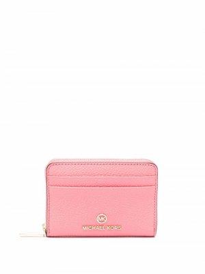 Jet Set small pebbled wallet Michael Kors. Цвет: розовый