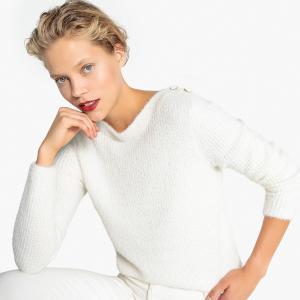 Пуловер с круглым вырезом из плотного трикотажа LA REDOUTE COLLECTIONS. Цвет: черный