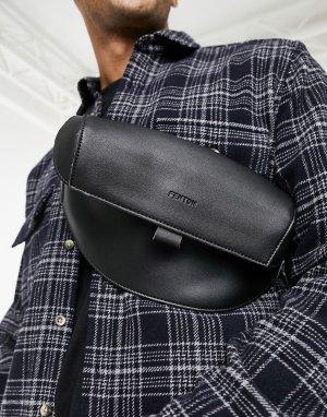 Черная сумка-кошелек на пояс -Черный цвет Fenton