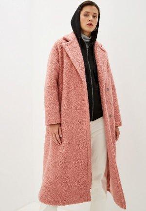 Пальто Terekhov Girl. Цвет: розовый