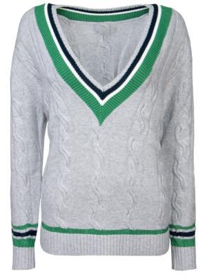 Шерстяной пуловер 3.1 Phillip Lim. Цвет: серый