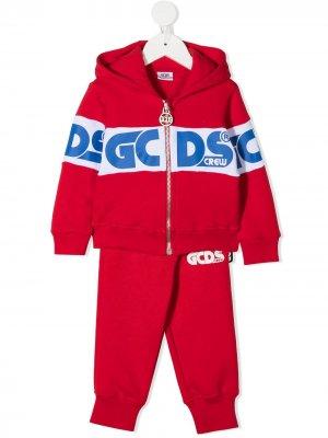 Спортивный костюм с логотипом Gcds Kids. Цвет: красный