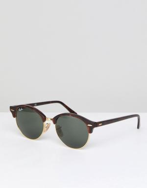Круглые солнцезащитные очки 0RB4246 club-Коричневый Ray-Ban