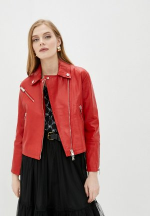 Куртка кожаная Ice Play. Цвет: красный