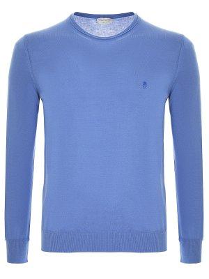 Свитер базовый BILANCIONI. Цвет: голубой