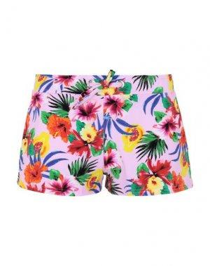Пляжные брюки и шорты BANANA MOON. Цвет: розовый