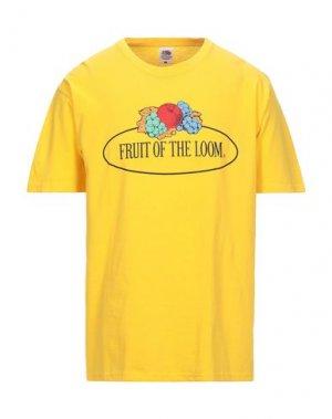 Футболка FRUIT OF THE LOOM. Цвет: желтый