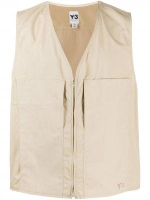 Жилет с нагрудными карманами Y-3. Цвет: нейтральные цвета