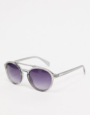 Серые солнцезащитные очки-авиаторы -Серый AJ Morgan