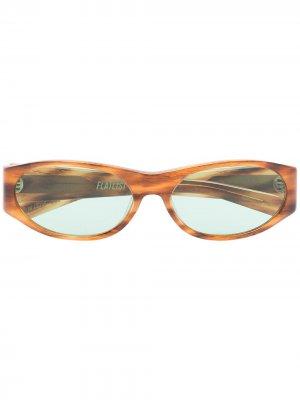 Солнцезащитные очки Eddie Kyu FLATLIST. Цвет: коричневый