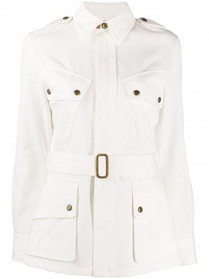 Джинсовая куртка с поясом Ralph Lauren Collection. Цвет: белый