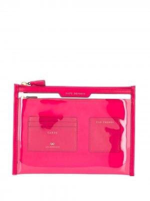 Клатч Safe Deposit Anya Hindmarch. Цвет: розовый
