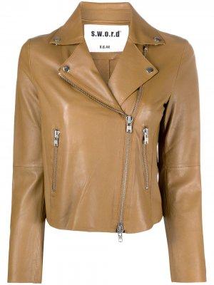 Байкерская куртка S.W.O.R.D 6.6.44. Цвет: нейтральные цвета