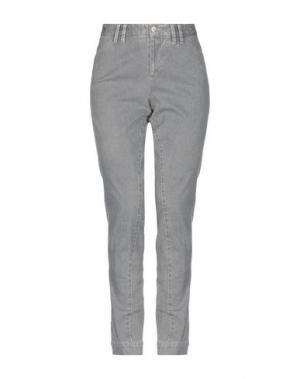 Джинсовые брюки PT Torino. Цвет: серый