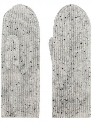 Варежки в мелкую точку Isabel Marant. Цвет: серый