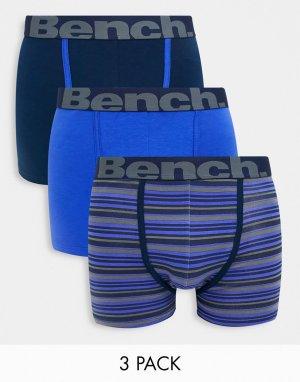 3 пары боксеров-брифов -Многоцветный Bench