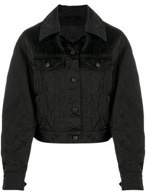 Джинсовая куртка свободного кроя Christian Wijnants. Цвет: черный