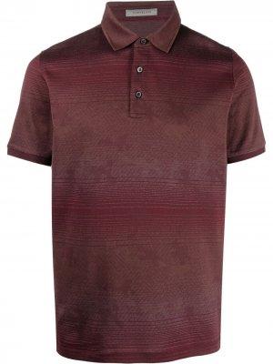 Рубашка поло в полоску Corneliani. Цвет: красный