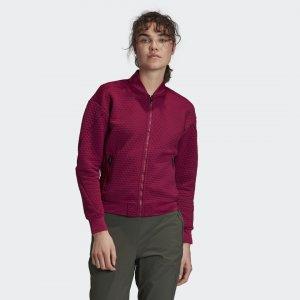 Флисовая куртка-бомбер для хайкинга TERREX adidas. Цвет: none
