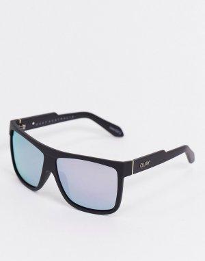 Солнцезащитные очки с черной оправой -Черный Quay Australia