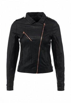 Куртка кожаная House HO647EWATR31. Цвет: черный
