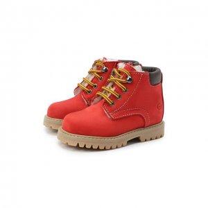 Кожаные ботинки Gallucci. Цвет: красный