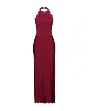 Длинное платье HERVÉ LÉGER. Цвет: пурпурный