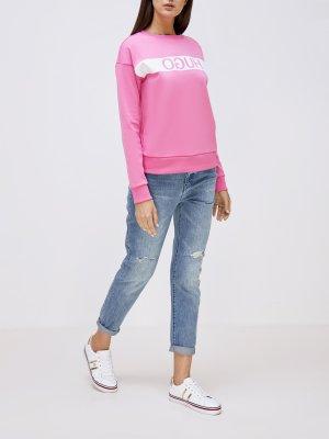 Рваные джинсы J06 Armani Exchange. Цвет: goluboy