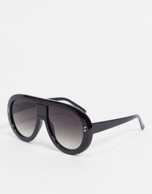 Солнцезащитные очки с черными градиентными стеклами 7X-Черный цвет SVNX