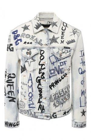 Джинсовая куртка Dolce & Gabbana. Цвет: разноцветный