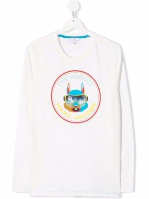 TEEN mascot-print T-shirt The Marc Jacobs Kids. Цвет: белый