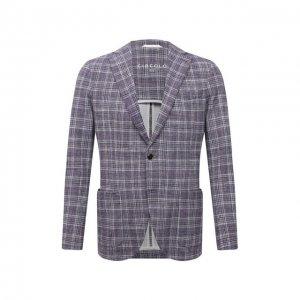 Хлопковый пиджак Circolo 1901. Цвет: сиреневый