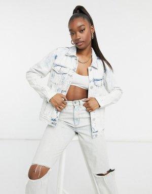 Выбеленная джинсовая куртка Blank NYC Ice Queen-Голубой