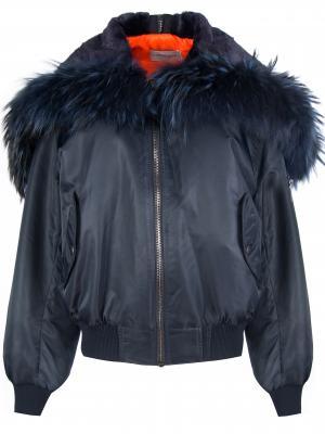 Куртка-бомбер с капюшоном FORTE COUTURE