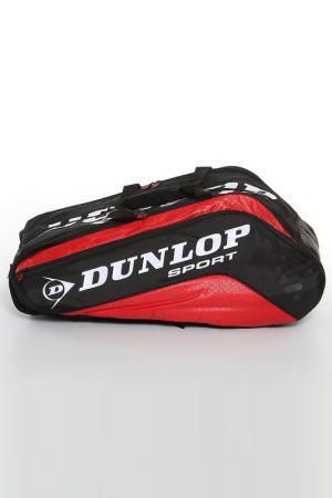 Теннисная сумка Dunlop. Цвет: красный