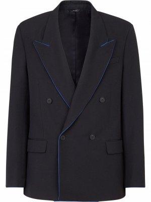 Двубортный пиджак Fendi. Цвет: черный