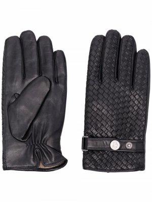 Перчатки с плетением Karl Lagerfeld. Цвет: черный