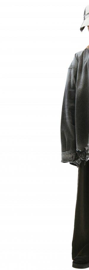 Серая джинсовая рубашка Balenciaga
