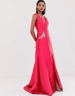 Декорированное платье макси -Розовый Jovani