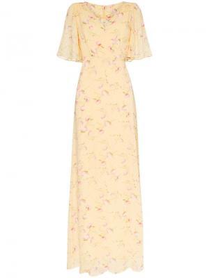 Платье макси Poppies с запахом byTiMo