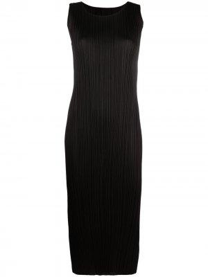 Плиссированное платье без рукавов Pleats Please Issey Miyake. Цвет: черный