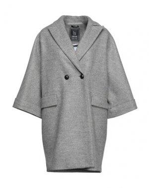 Пальто HANITA. Цвет: серый
