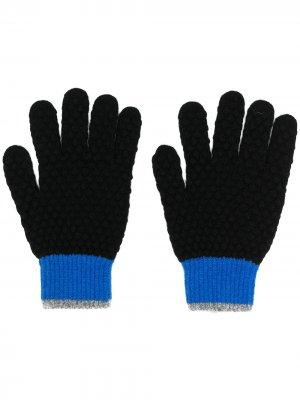 Перчатки с контрастными вставками PS Paul Smith. Цвет: черный