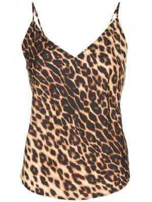 Топ Nash на бретелях с леопардовым принтом A.L.C.. Цвет: коричневый